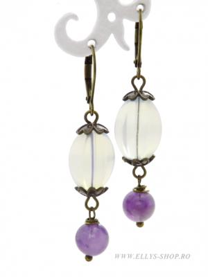 Cercei handmade Purple Moon
