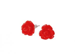 Cercei trandafir rosii