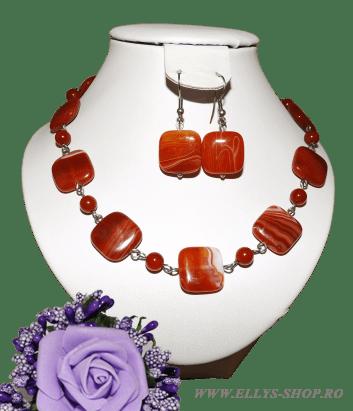 Set bijuterii pietre semipretioase carneol