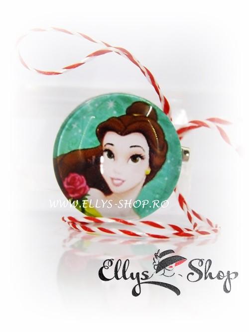 Brosa martisor pentru copii Belle, printesa Disney