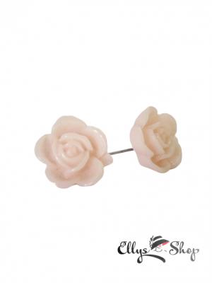 Cercei trandafiri din rasina roz pal