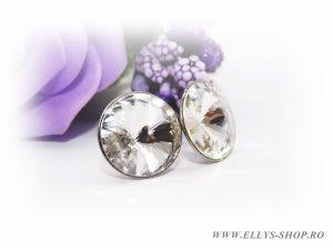 Cercei rivoli swarovski crystal clear