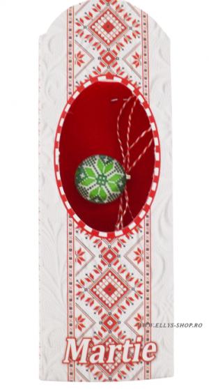 Martisoare traditionale romanesti cu verde si alb