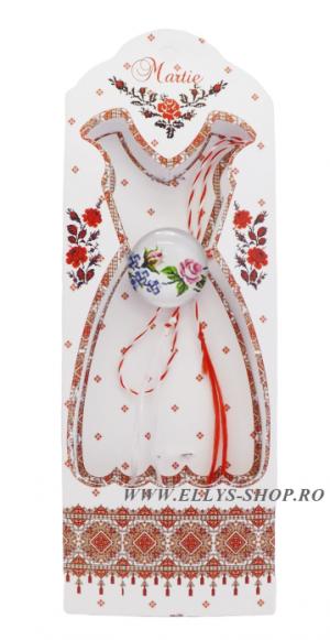 martisoare traditionale motive populare romanesti trandafir