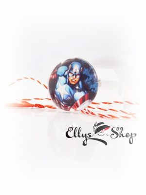Martisor pentru copii eroi Marvel Captain America