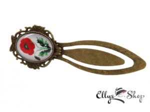 Semn de carte handmade cu imagine mac traditional