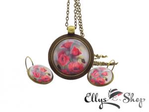 Set bijuterii handmade maci
