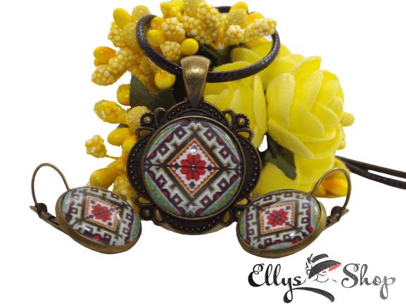 Set bijuterii handmade motive taditionale