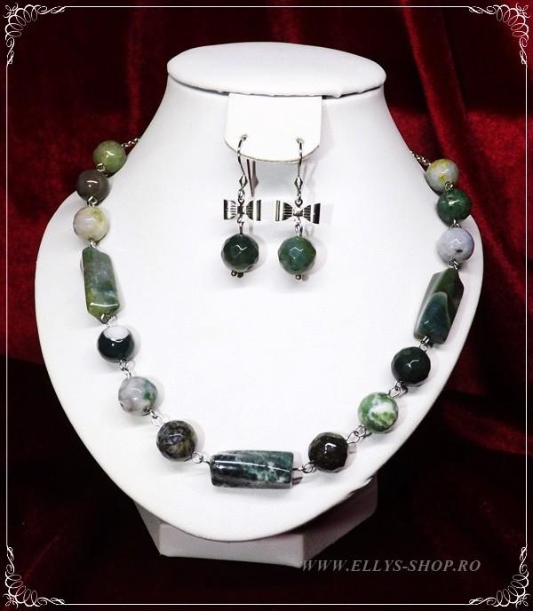 Set bijuterii handmade agate