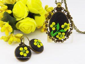 Set bijuterii handmade unicat lut polimeric