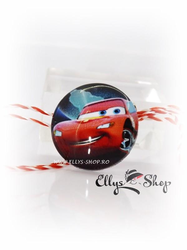 brosa martisor pentru baieti Cars Lightning McQueen