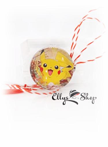 Brosa martisor pentru copii Pokemon- Pikachu