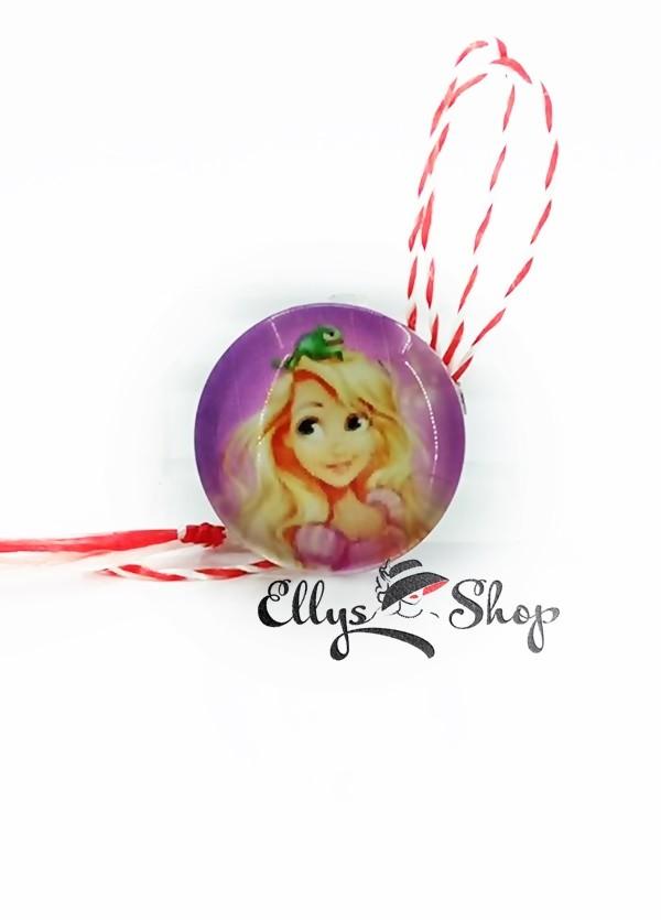 Brosa martisor pentru fetite imagine personaj Rapunzel