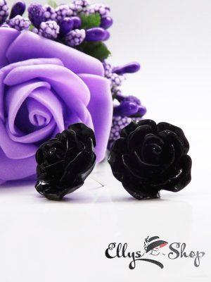 Cercei trandafir negri