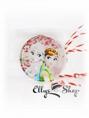 Martisor pentru copii imagine Ana si Elsa - Frozen cod 1412
