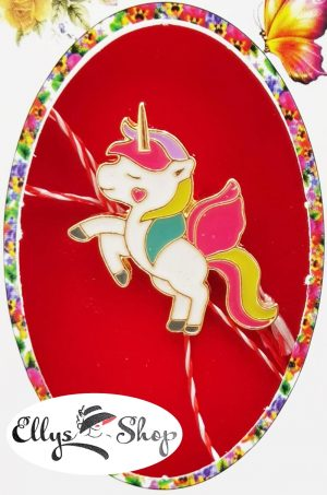 Brosa martisor unicorn rainbow