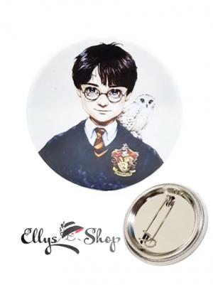 Insigna Harry Potter cu bufnita alba