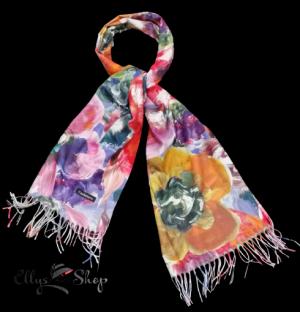 Sal mare din casmir model abstract multicolor
