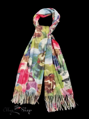 Sal mare din casmir cu model abstract, multicolor cod 4058