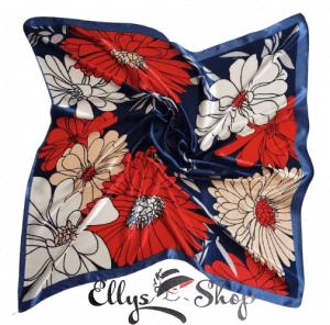 Batic mic elegant albastru cu flori mari cod 4277 detaliu 1