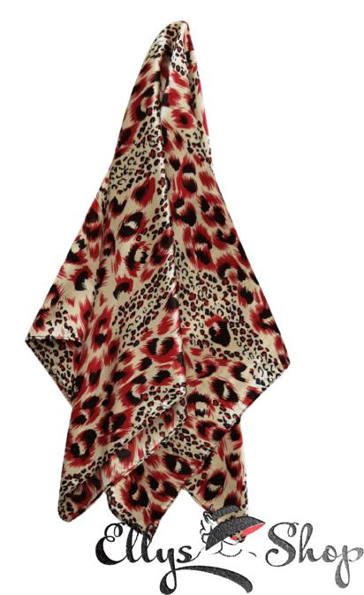 Batic mic subtire model animal print cu rosu, negru, galben deschis cod 4259