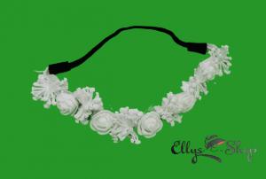 Bentita elastica cu flori albe
