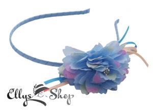 Cordeluta par cu floare bleu si roz