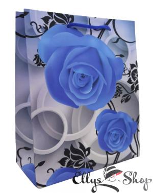 Punga cadou cu trandafiri albastri cod 4224