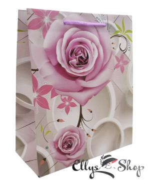 Punga cadou cu trandafiri roz cod 4226