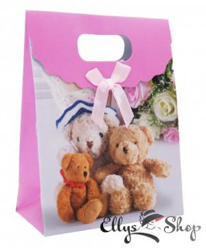 Punga cadou mica roz cu ursuleti