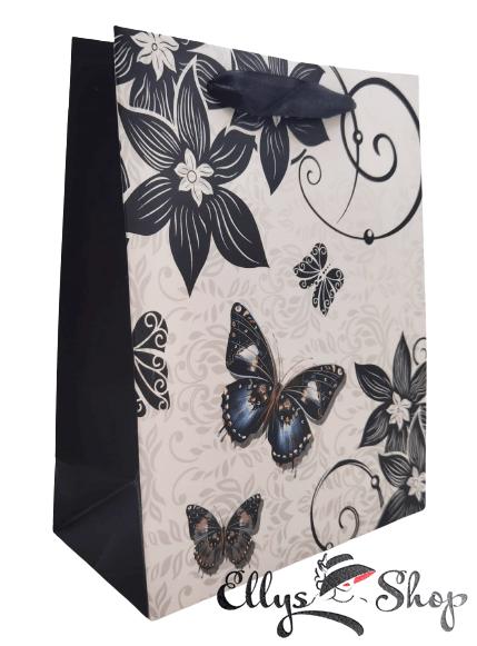 Punga pentru cadou cu fluture albastru cod 4222