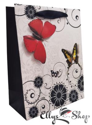 Punga pentru cadou cu fluturi cod 4204