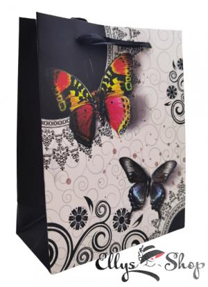 Punga pentru cadou eleganta cu fluturi cod 4192