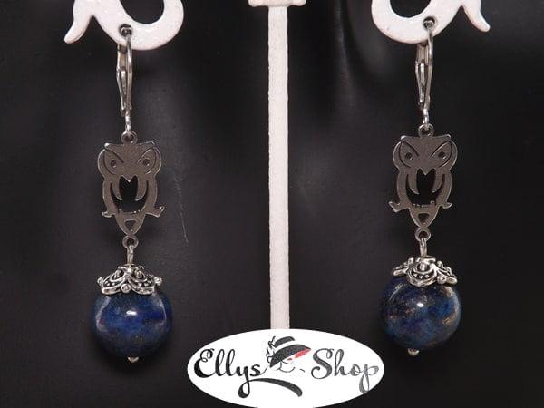 Cercei handmade pietre lapis lazuli