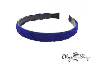 Bentita albastra impletita din material textil