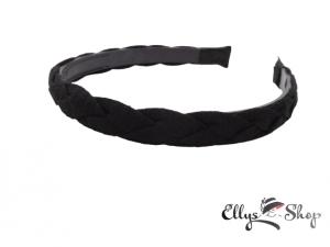 Bentita neagra impletita din material textil