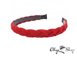 Bentita rosie impletita din material textil