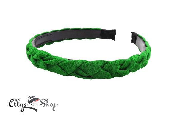 Bentita par verde impletita din material textil