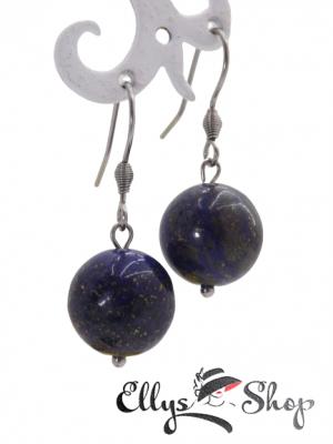 Cercei cu pietre semipretioase lapis lazuli