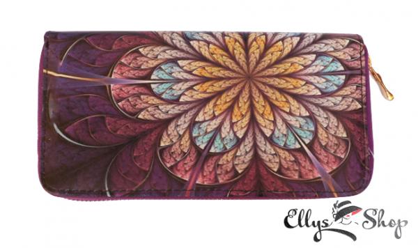 Portofel dama colorat floare abstracta