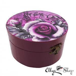 Cutiuta pentru bijuterii decorata manual model trandafiri
