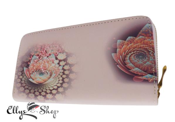 Portofel dama roz pal floare de lotus cod 4399