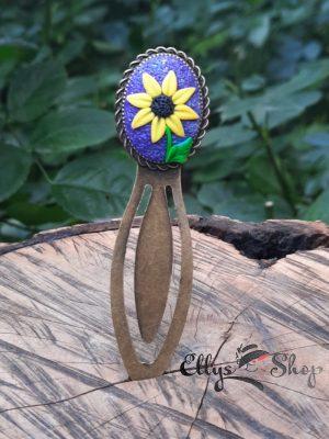 Semn de carte handmade floarea soarelui
