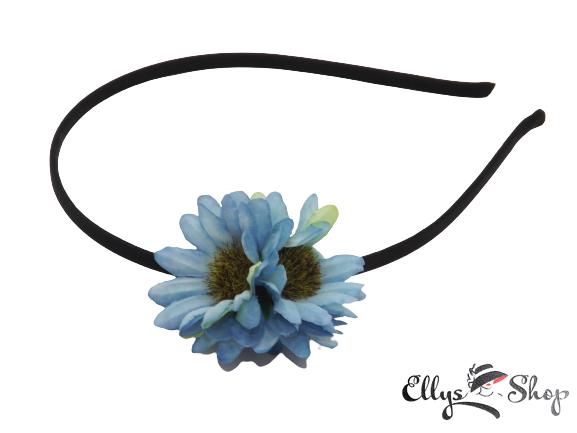 Bentita cu trei flori bleu