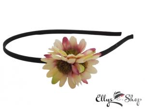 Bentita cu trei flori crem- grena