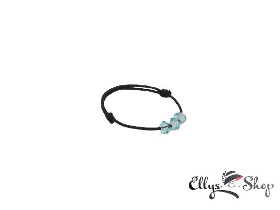 Inel snur si cristale swarovski aquamarine